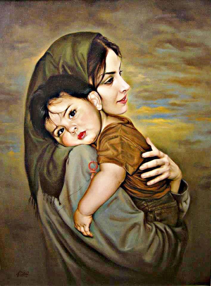 Картинки про маму и дочку грустные