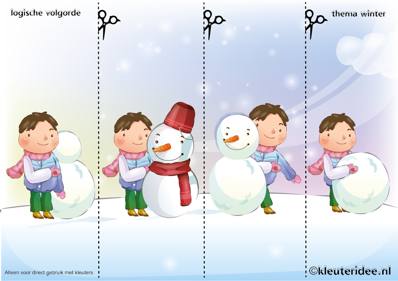 Leg-de-plaatjes-van-de-sneeuw-in-logische-volgorde-juf-Petra-van ...