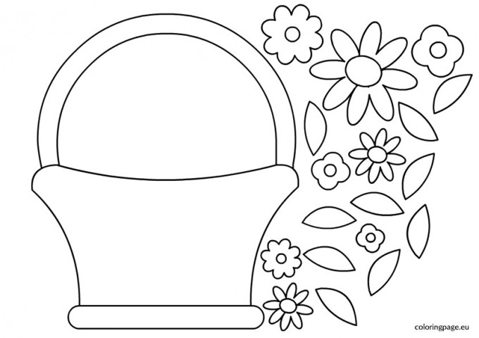 basket-with-flowers-template