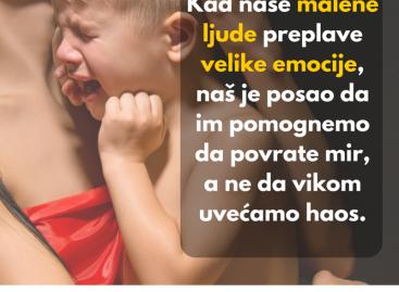 Питање за васпитачице: Да ли је ово начин на који би требало да се опходимо према деци?