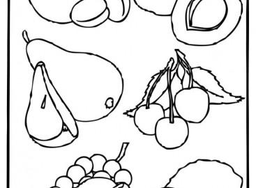 Воће и поврће – бојанка