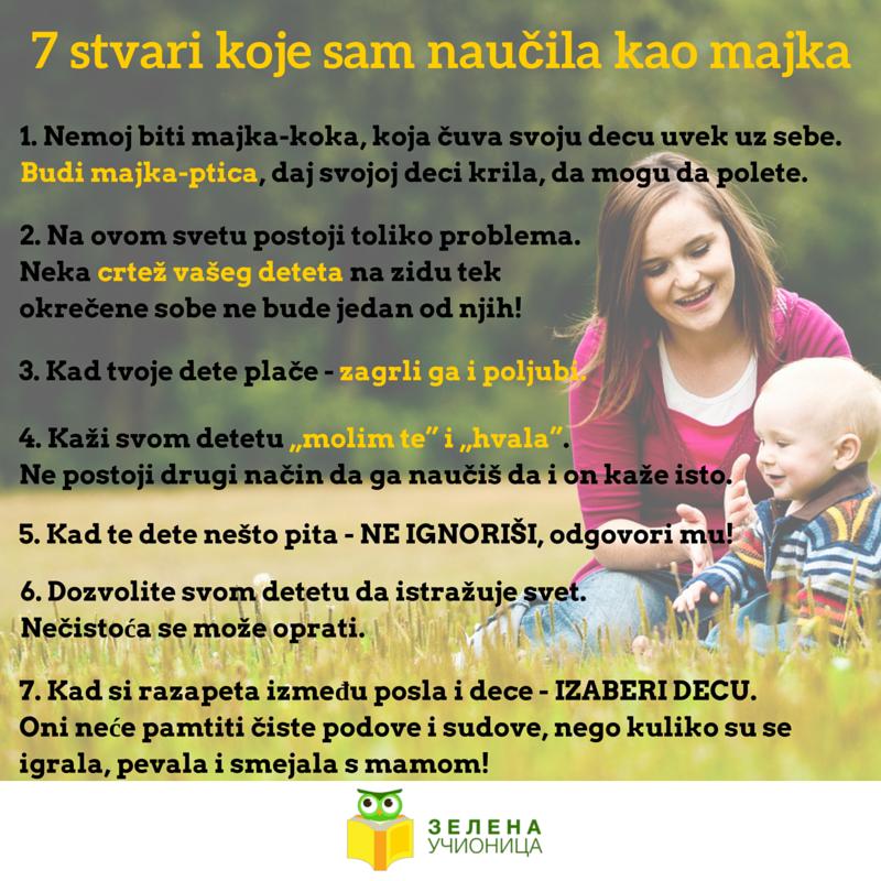 7 stvari koje sam naučila kao majka
