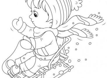 Зимске игре – бојанка