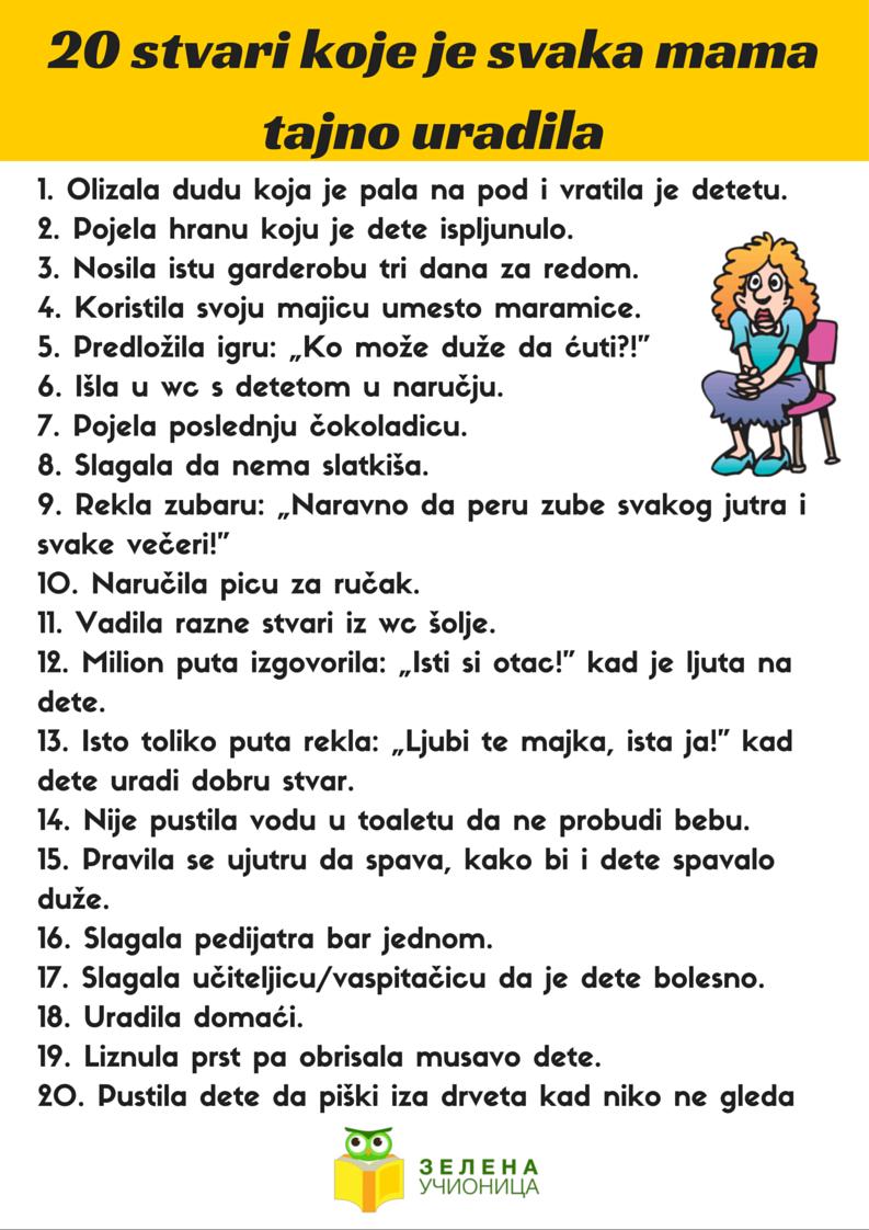 20 stvari mama