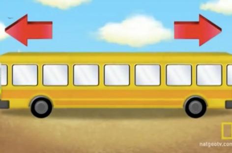 Да ли можете да погодите на коју страну иде овај аутобус?