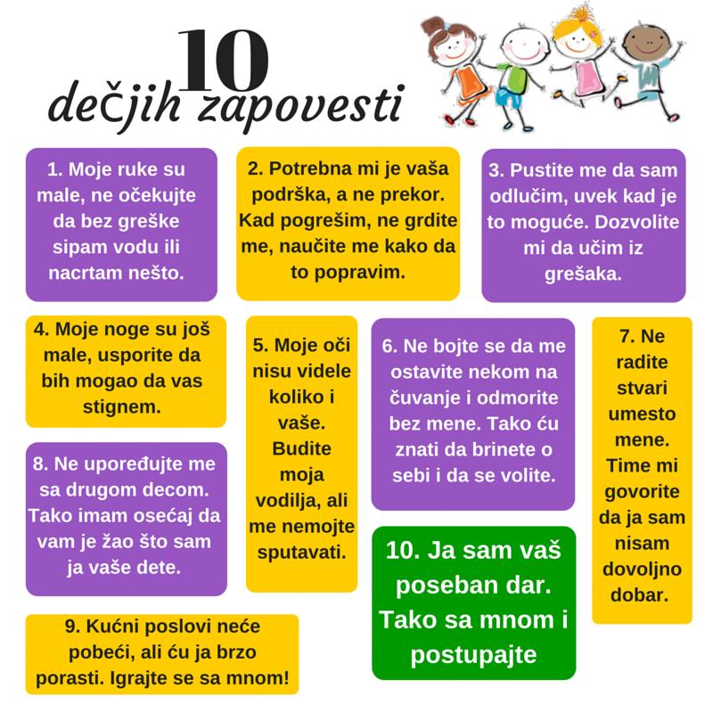 10 decjih zapovesti