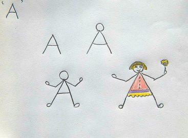 Научите дете да црта помоћу слова и бројева
