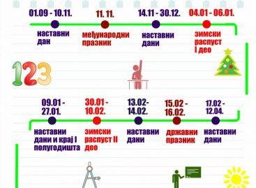 Календар за школску 2016/2017