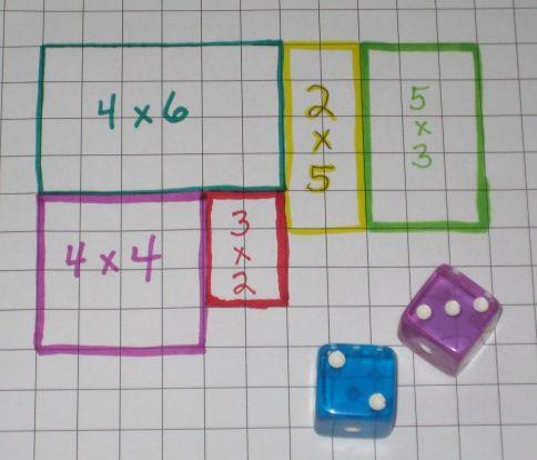 area-dice