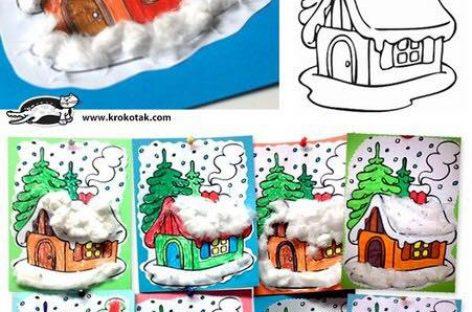 Зимске кућице – ШАБЛОН