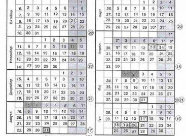 Школски календар за 2017/2018. за Србију