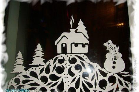 Креативне идеје – зимски прозори (ШАБЛОН)