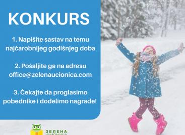 Konkurs: Pošaljite nam svoje sastave o zimi i osvojte nagradu!