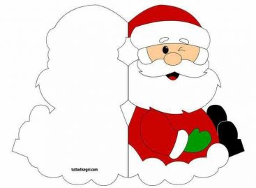 Деда Мраз – честитка (ШАБЛОН)