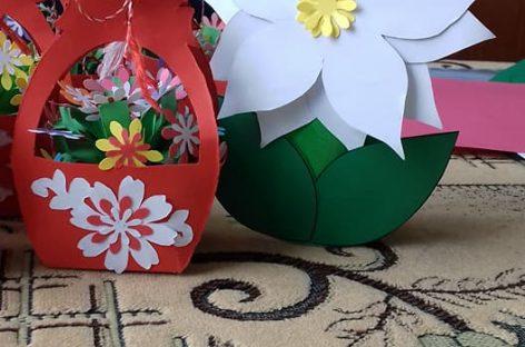 Koрпа цвећа за маму – ШАБЛОН