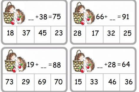 Sabiranje dvocifrenih brojeva (testovi za drugi razred)