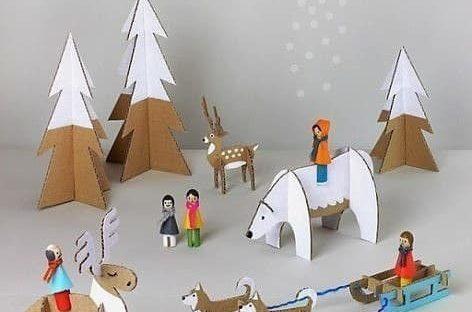 Креативне идеје: Зима од картона (ШАБЛОН)