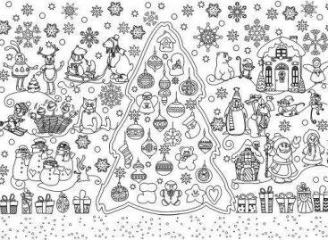 Зимске чаролије – за пано (ШАБЛОН)