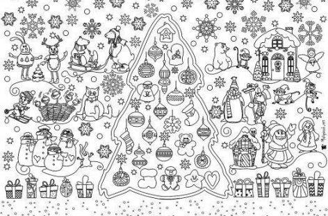 Zimske čarolije – za pano (ŠABLON)